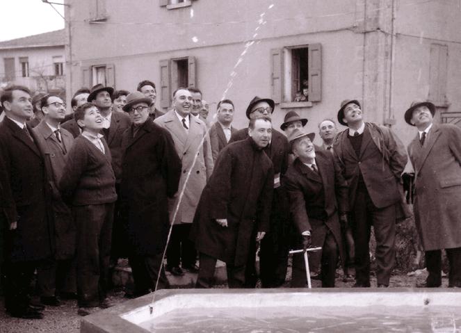 Inaugurazione della fontana di Toano, 1963